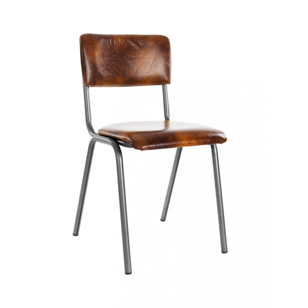 Horeca stoel - Oldschool - Skai - Skai - Staal - Promoline