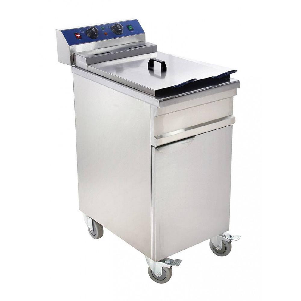 Promoline - 15 liter - 400V - Staandmodel - 058160 - Horeca friteuse