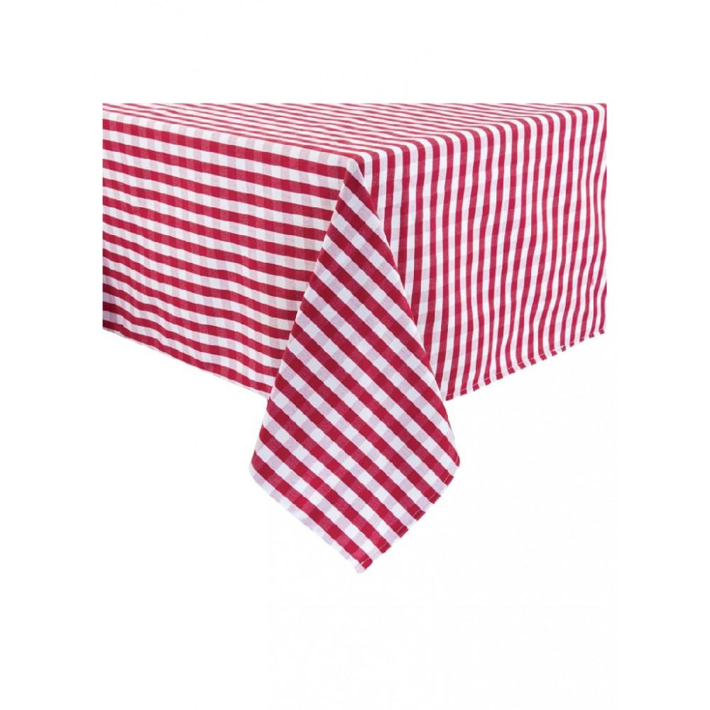 Mitre Comfort Gingham tafelkleed rood-wit 132 x 132cm - HB582