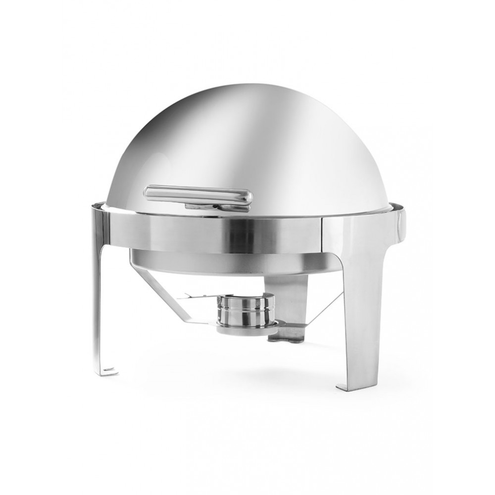 Chafing dish - Rond - Elegante - 5.6 liter - RVS - Hendi - 470312