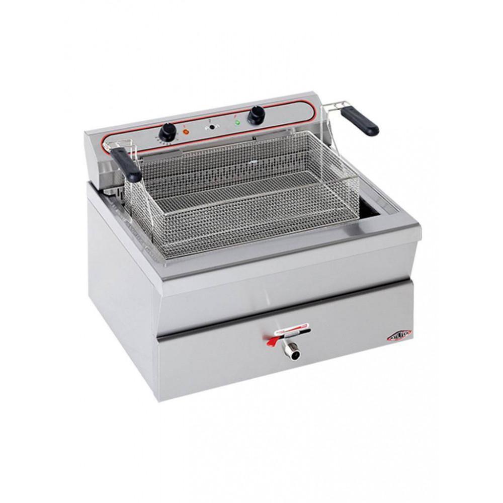 Friteuse - H 42 x 62 x 53 CM - 23 KG - 380 - 415 V - 9000 W - RVS - 26 Liter - Elektrisch - Stilfer - 527026