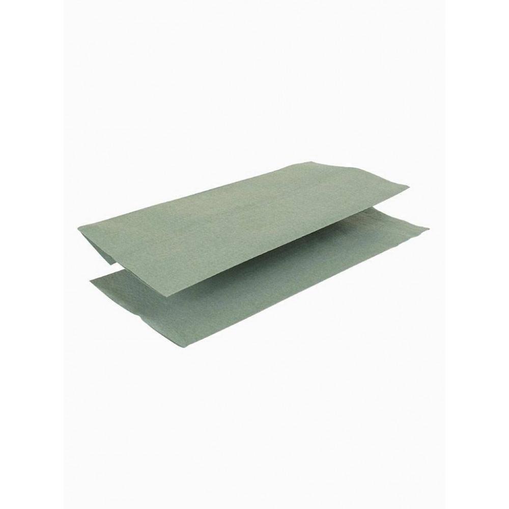 Z-gevouwen handdoeken - groen - 15 pakken | Jantex