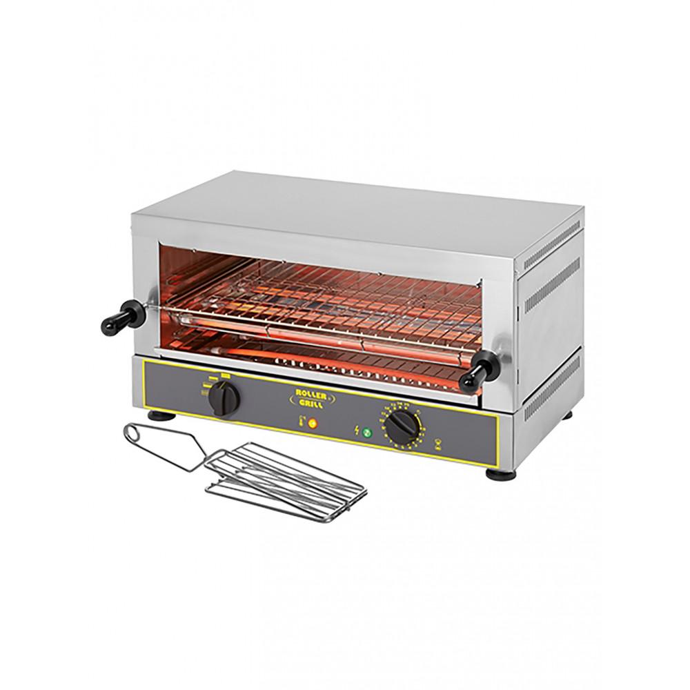Salamander - H 34 x 64 x 38 CM - 15 KG - 220 - 240 V - 2700 W - RVS - +0°C / +1050°C - Roller Grill - 304006