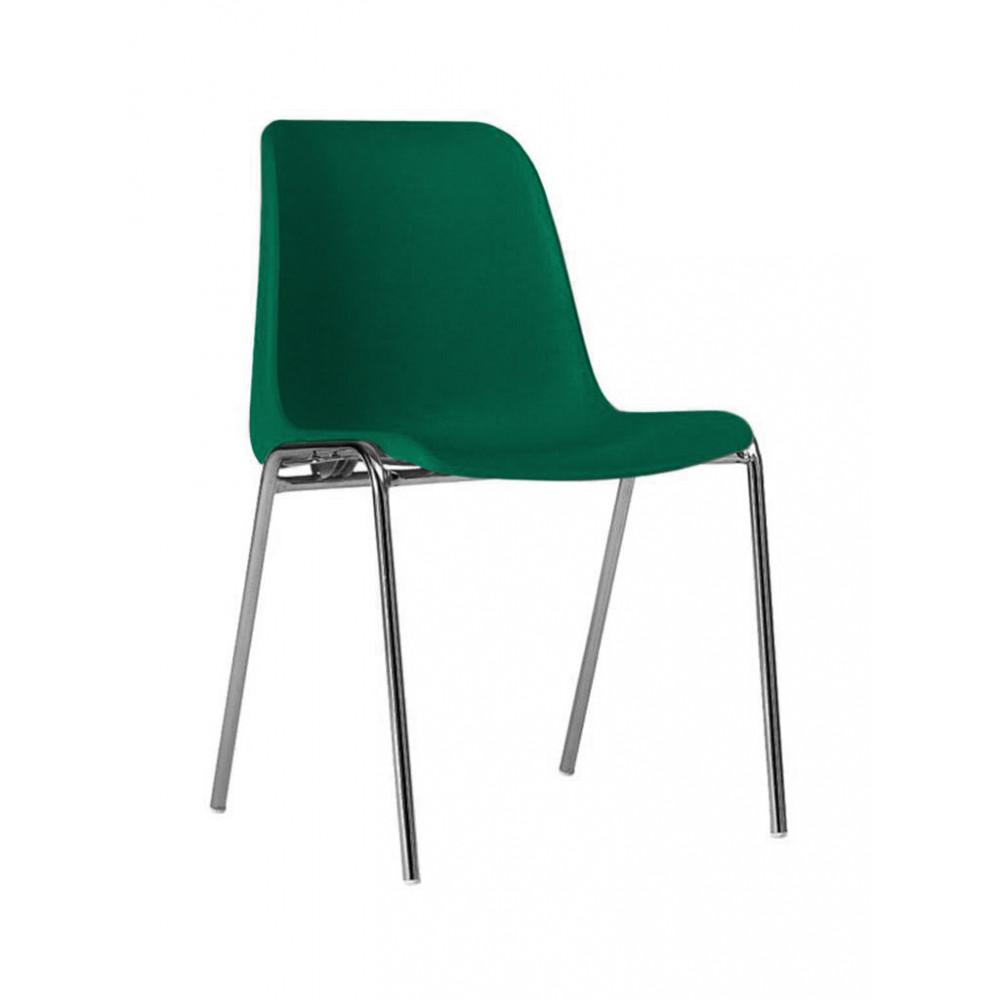 Horeca stoel - Helene - Groen - Stapelbaar - Promoline