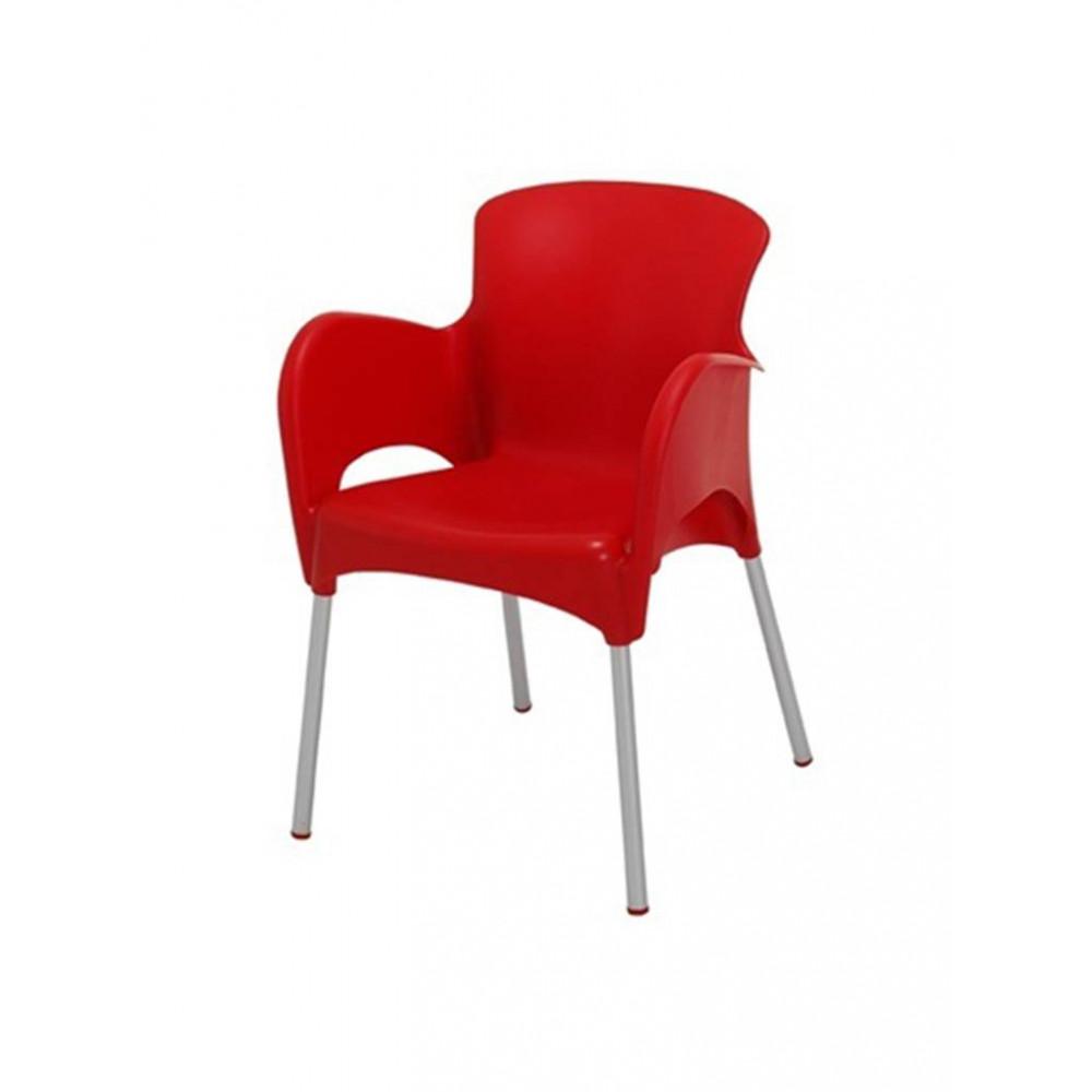 Horeca stoel / Terrasstoel - Armleuning - Mars - Rood