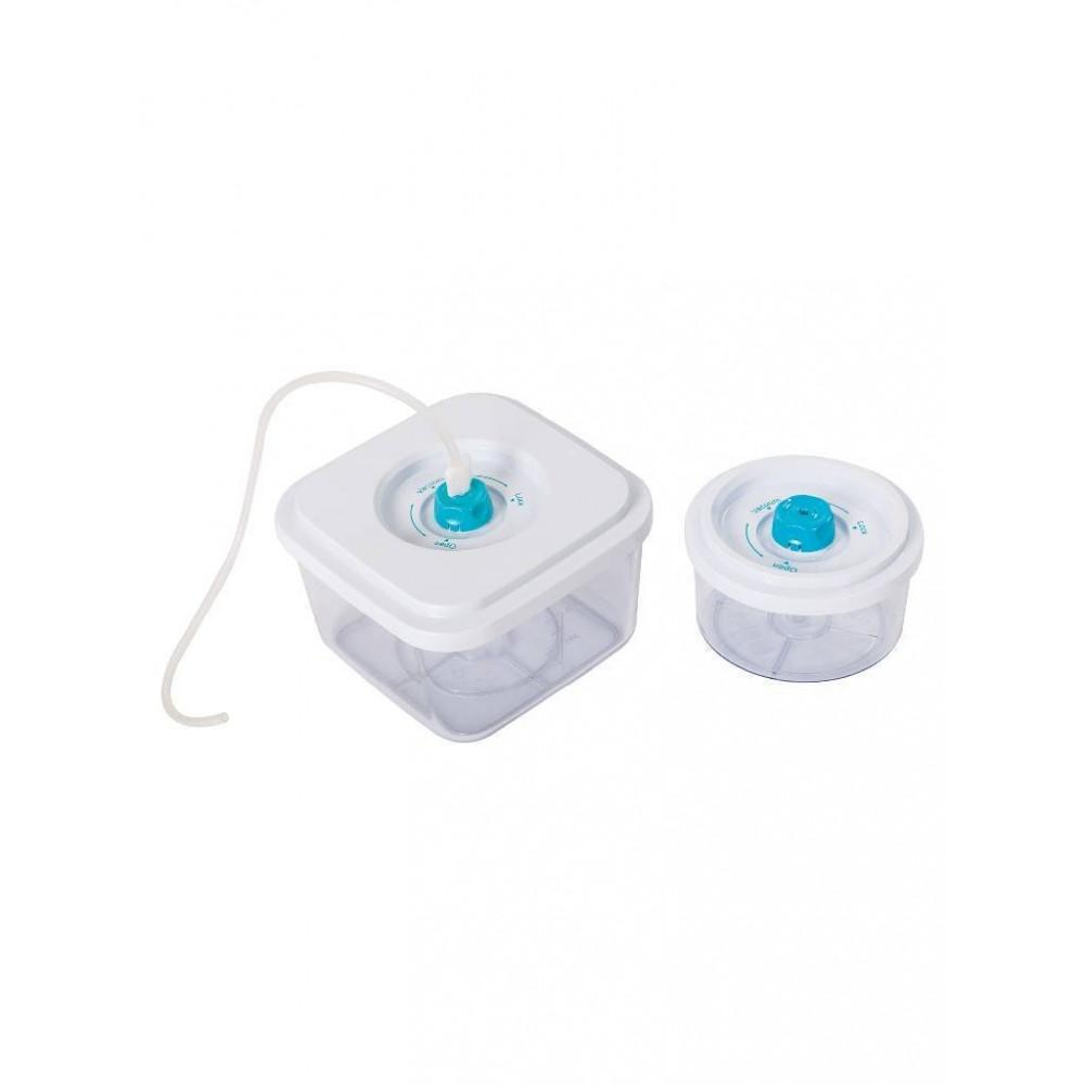 2 bewaarcontainers voor voedsel - Polycarbonaat + darm - S3T-K2B - Diamond