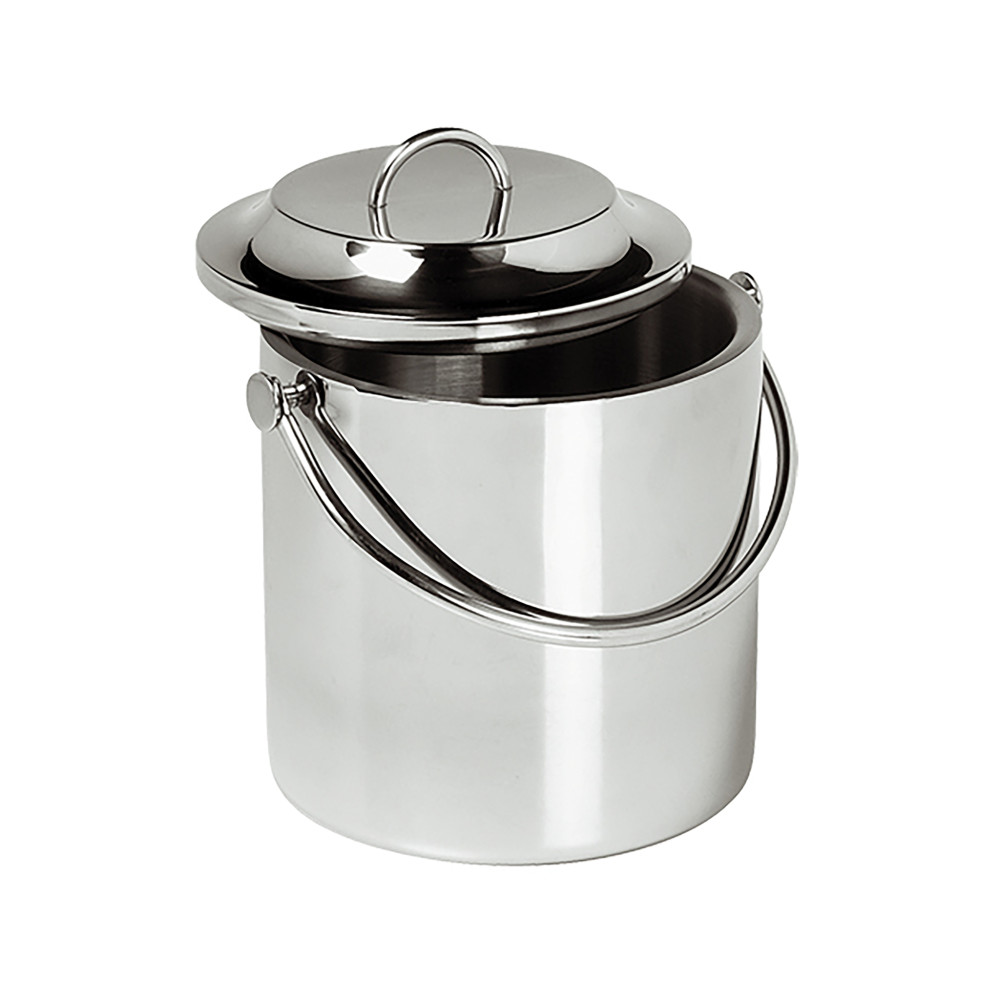 Ijsblokjesemmer - H 23 CM - 1 KG - Ø18 CM - RVS - 3.3 Liter - 140043