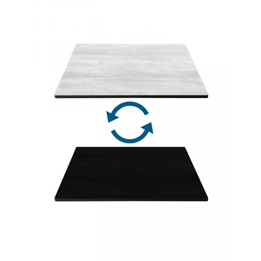 Tafelblad HPL - 120 X 70 CM - Zwart & Wit - Promoline