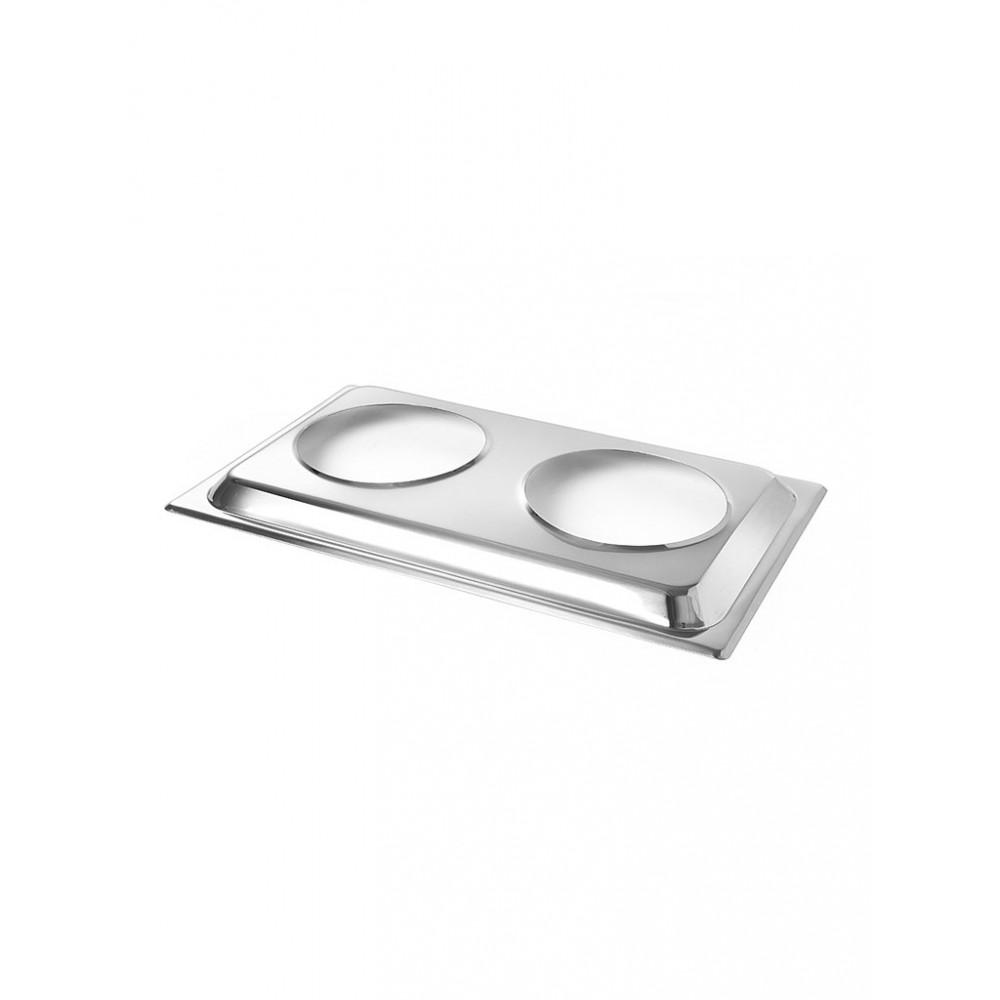Chafing dish - Opzetstuk voor 2 bain-marie pannen - Hendi - 470930