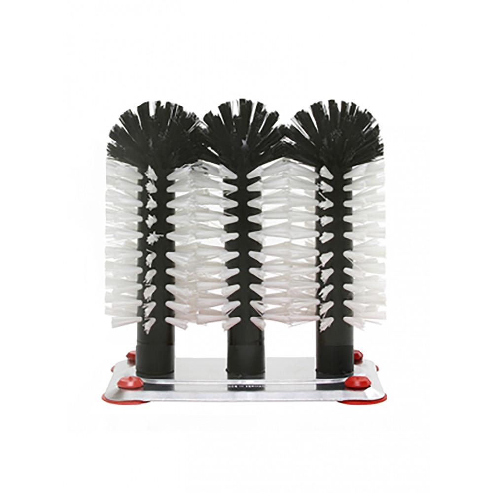 Spoelborstel - 3 borstels - Aluminium - Bar Professional - 517935