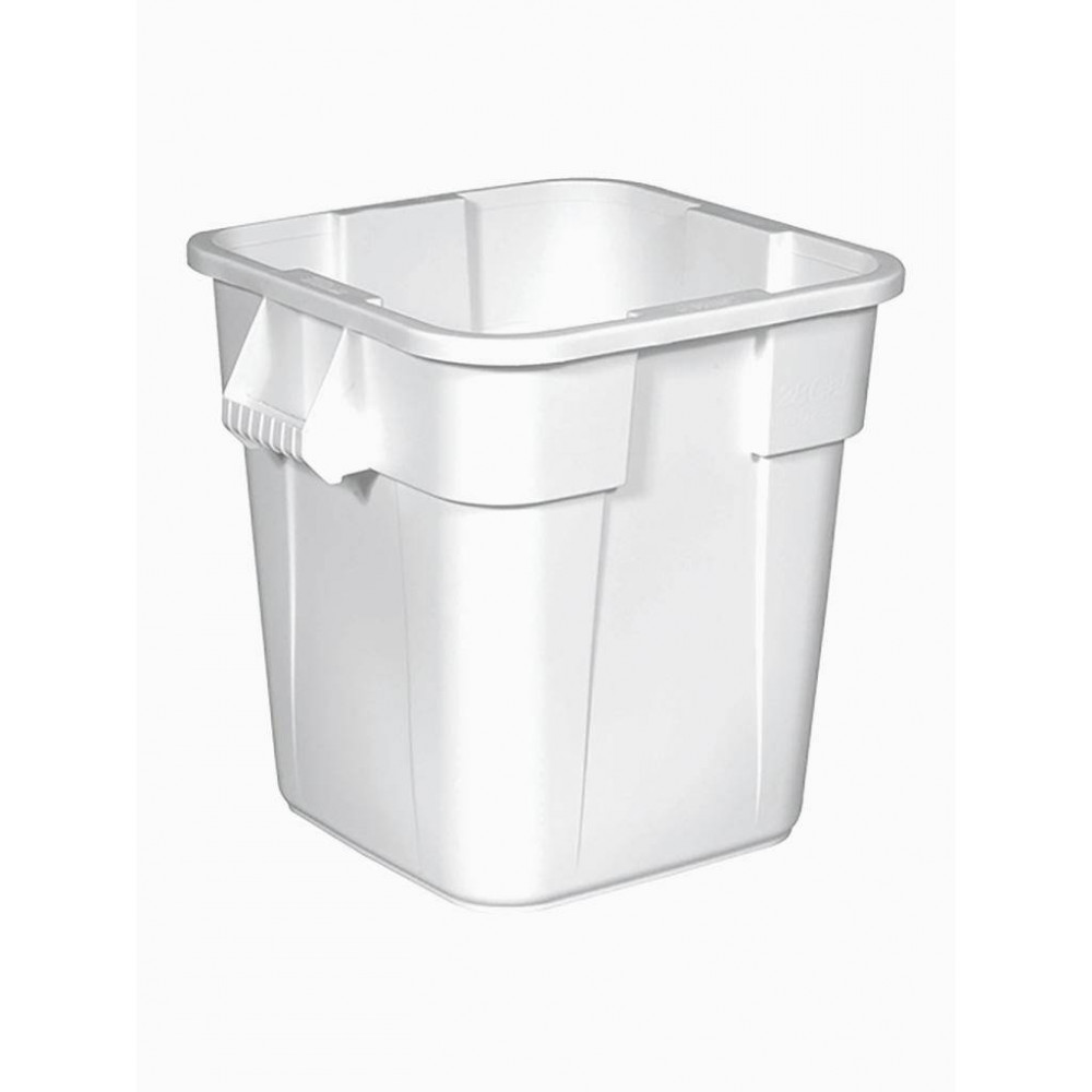 Rubbermaid afvalcontainer (wit) 105 L
