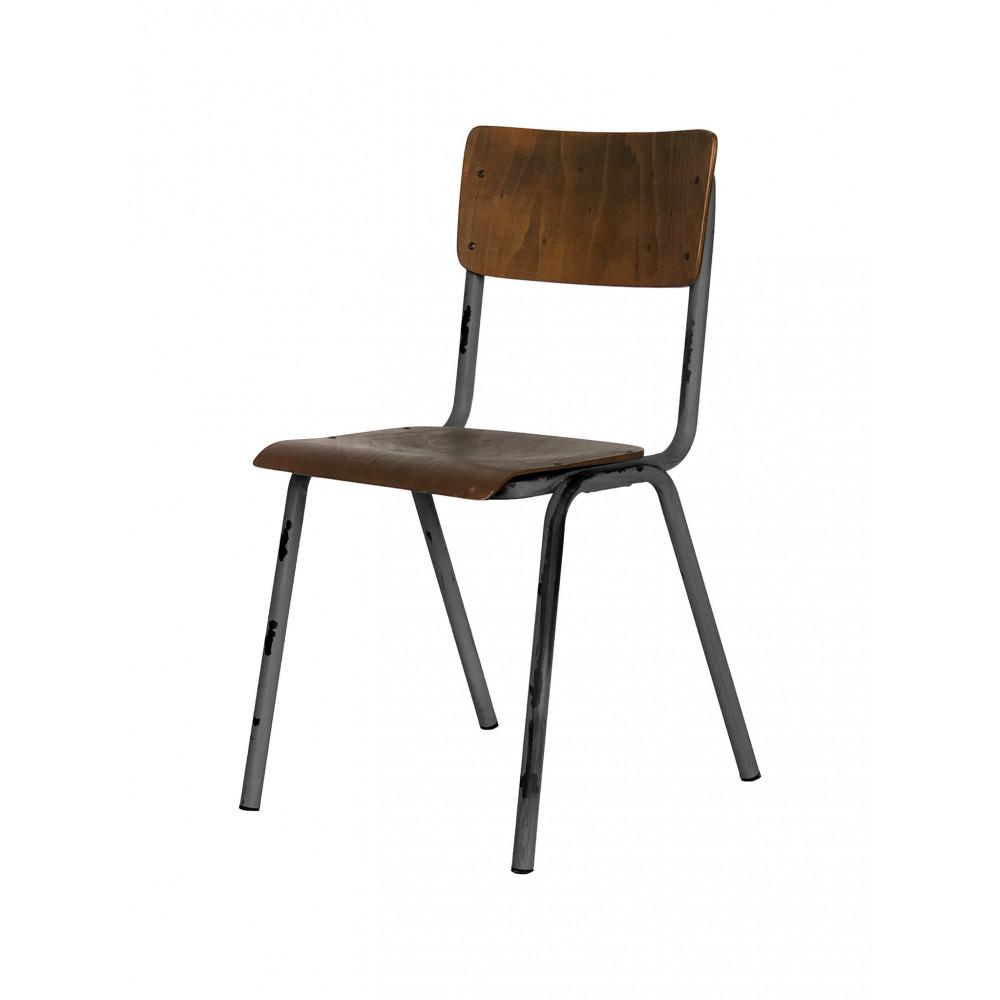 Horeca stoel - Old School - Vintage Metal - Hout  - Promoline