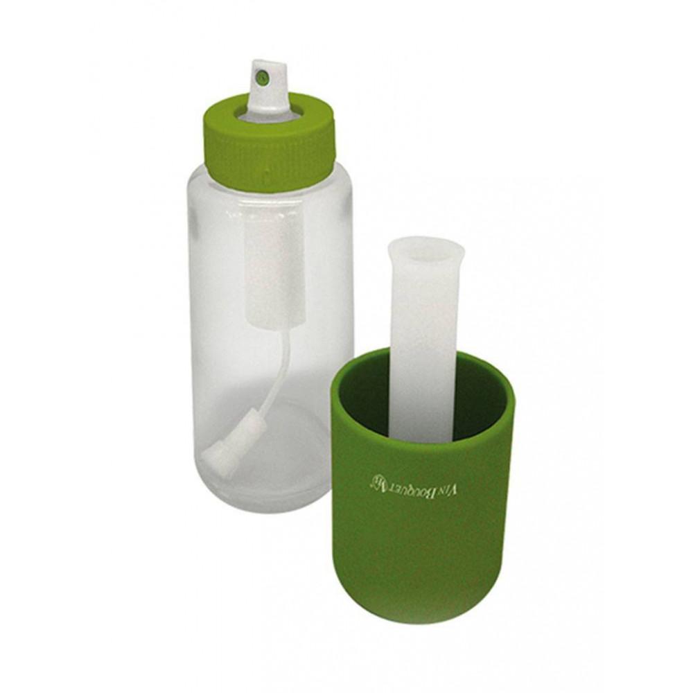 Olie / Azijn Verstuiver - H 20.8 CM - 0.2 KG - Ø6 CM - Glas - Groen - Vin Bouquet - 220001