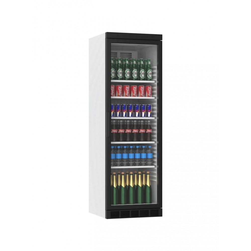 Displaykoeler - 385 Liter - 1 Deurs - Zwart - H184.5 x 59.5 x 60.5 CM - Promoline