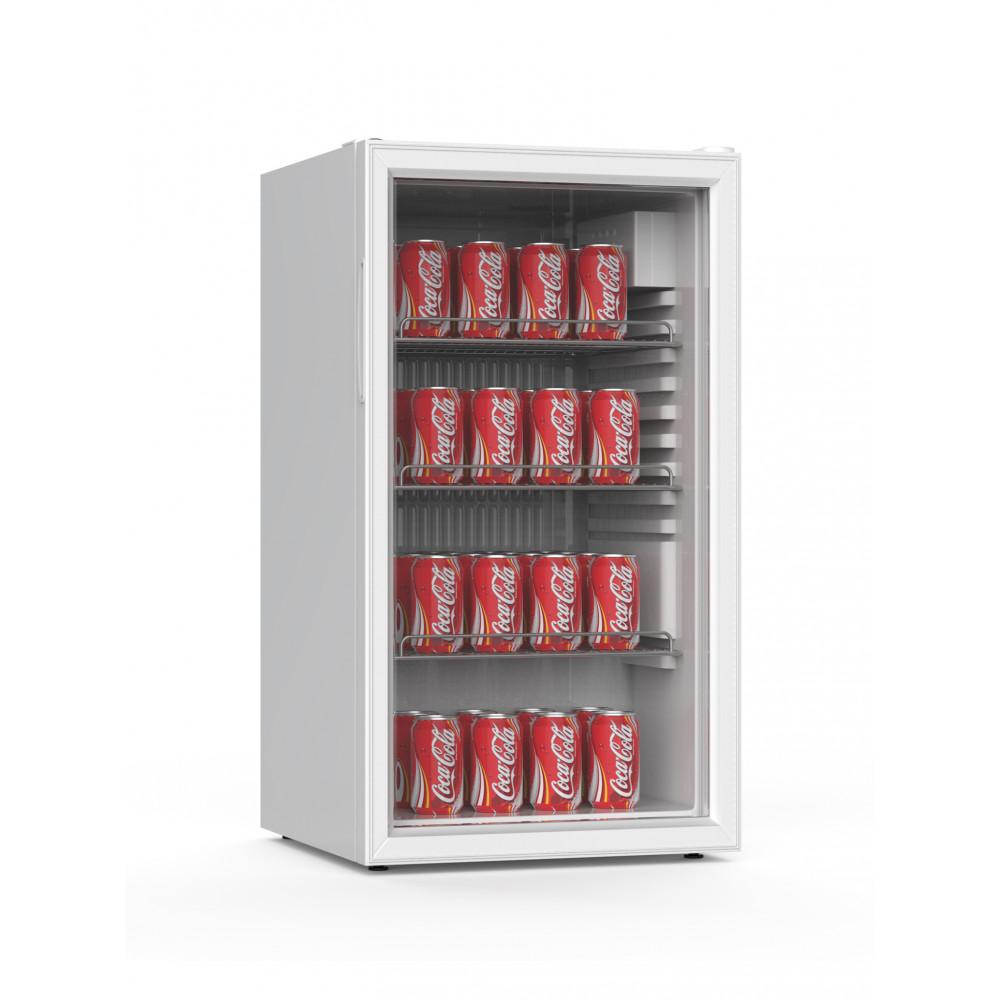 Koelkast - 85 liter - Glasdeur - Wit