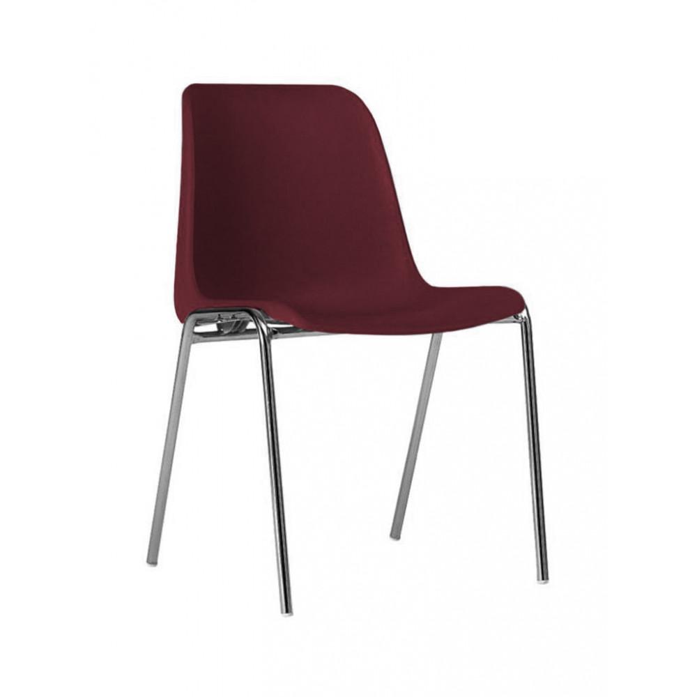 Horeca stoel - Helene - Bordeaux - Stapelbaar - Promoline