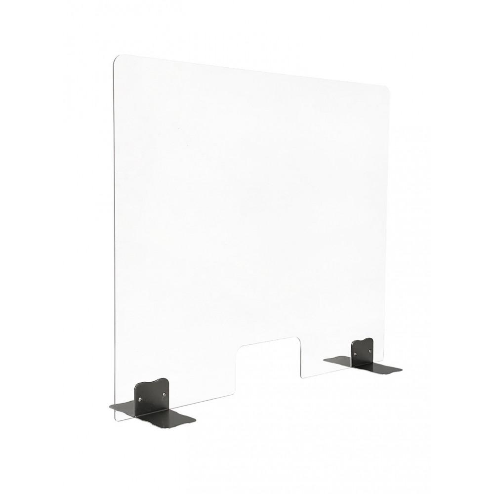 Plexiglas scherm - RVS voeten - B 80 x H 85 CM - 70131910