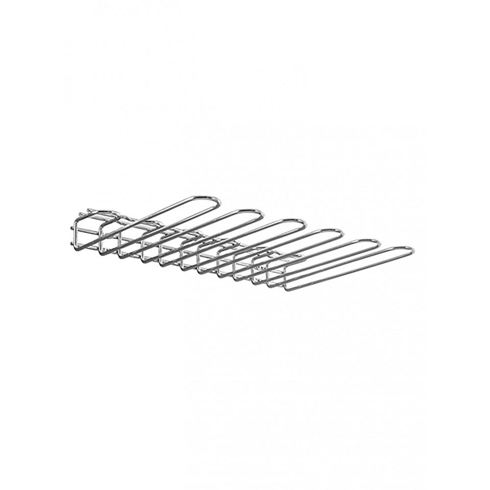 Glazen-Ophangrek - H 5.5 x 45 x 31.6 CM - 1.6 KG - Verchroomd - 110055
