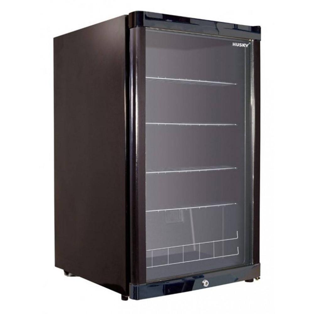 Koelkast glazen deur - 122 liter - 1 deurs - Zwart - Husky - KK110-BK-NL-HU