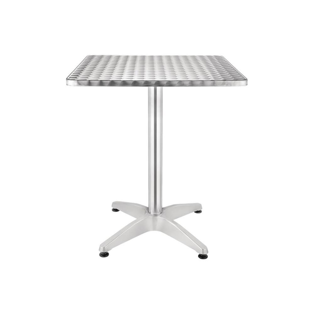 Terrastafel - 70x70 cm - Bistro - Chroom - Aluminium - 74760