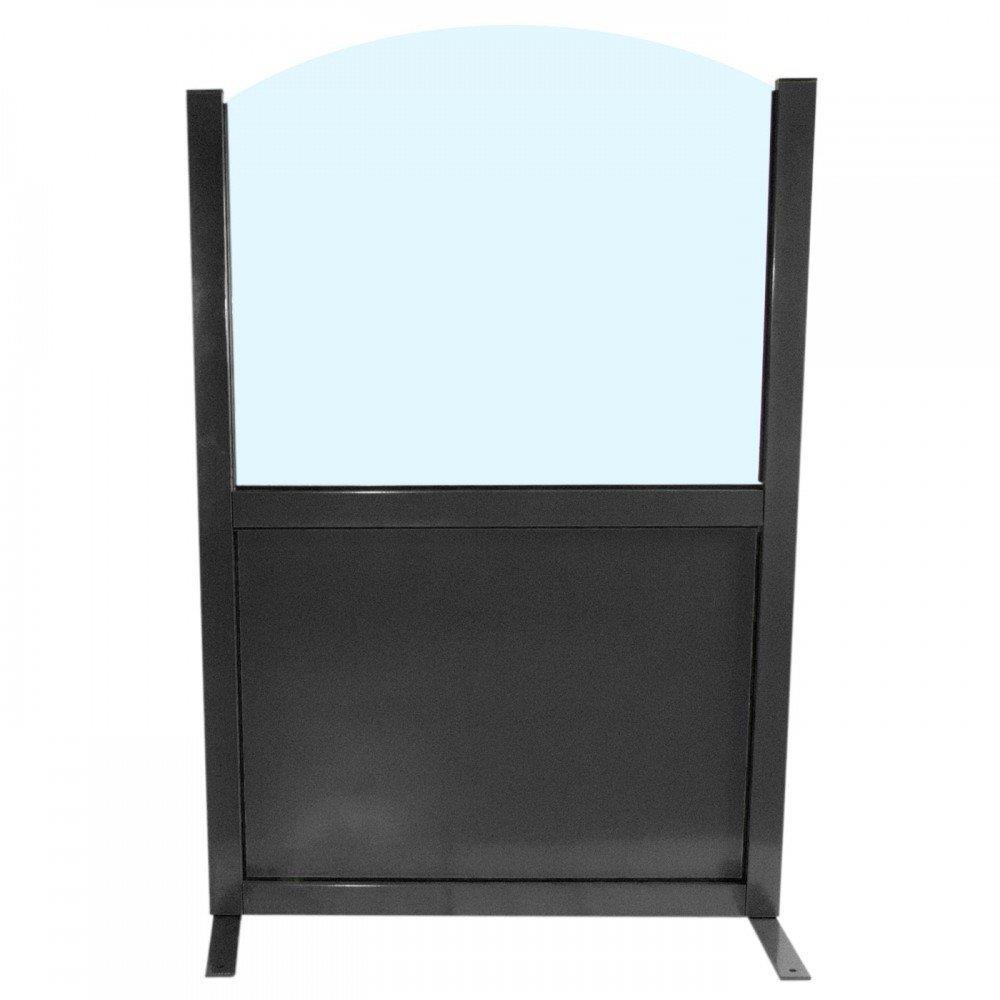Terras windscherm - 100 x 150 CM - Glanzend zwart - 40528