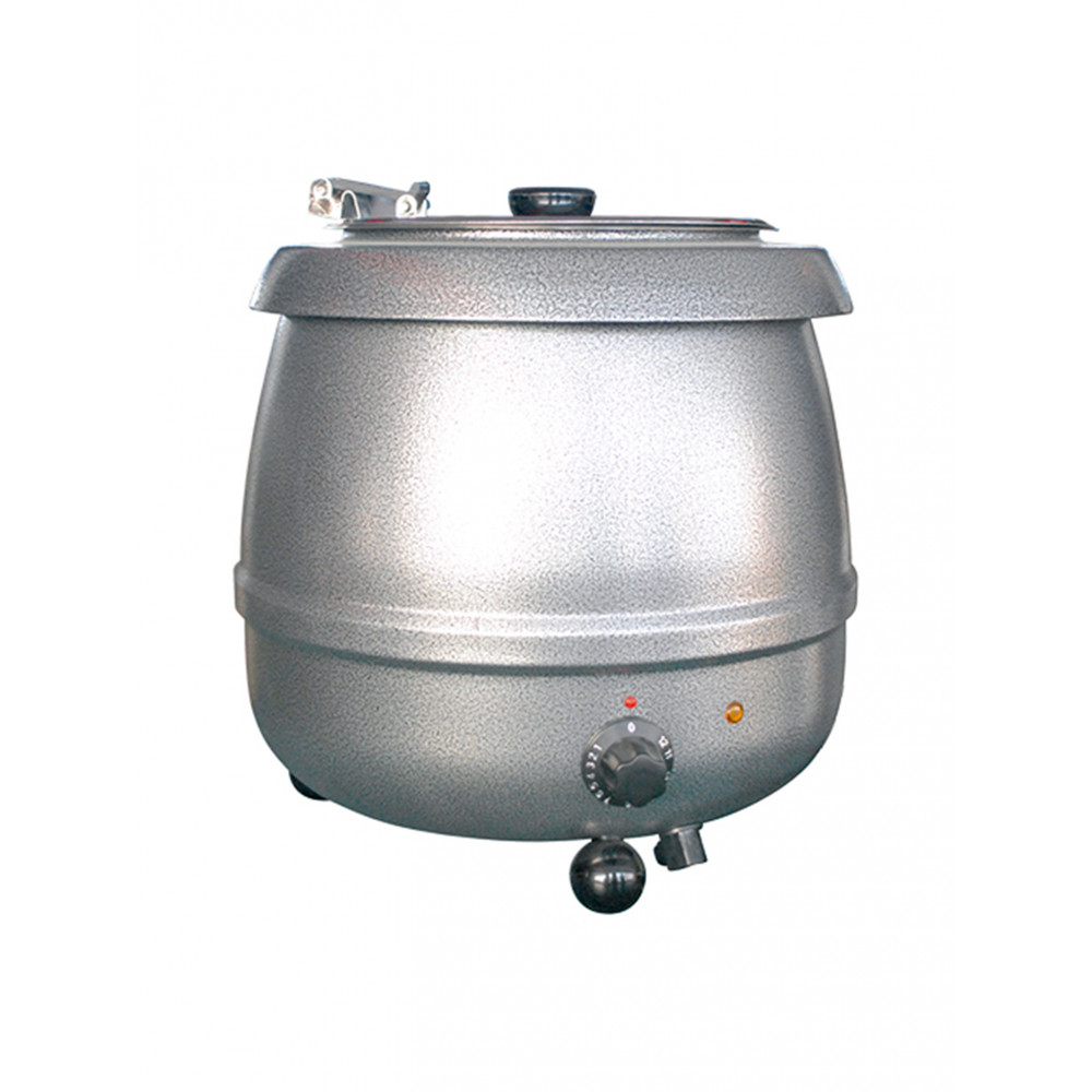 Soepketel - H 36.6 CM - 4.65 KG - Ø38.5 CM - 220 - 240 V - 475 W - Metaal - 10 Liter - Scharnierend Deksel - Bistro - 537109