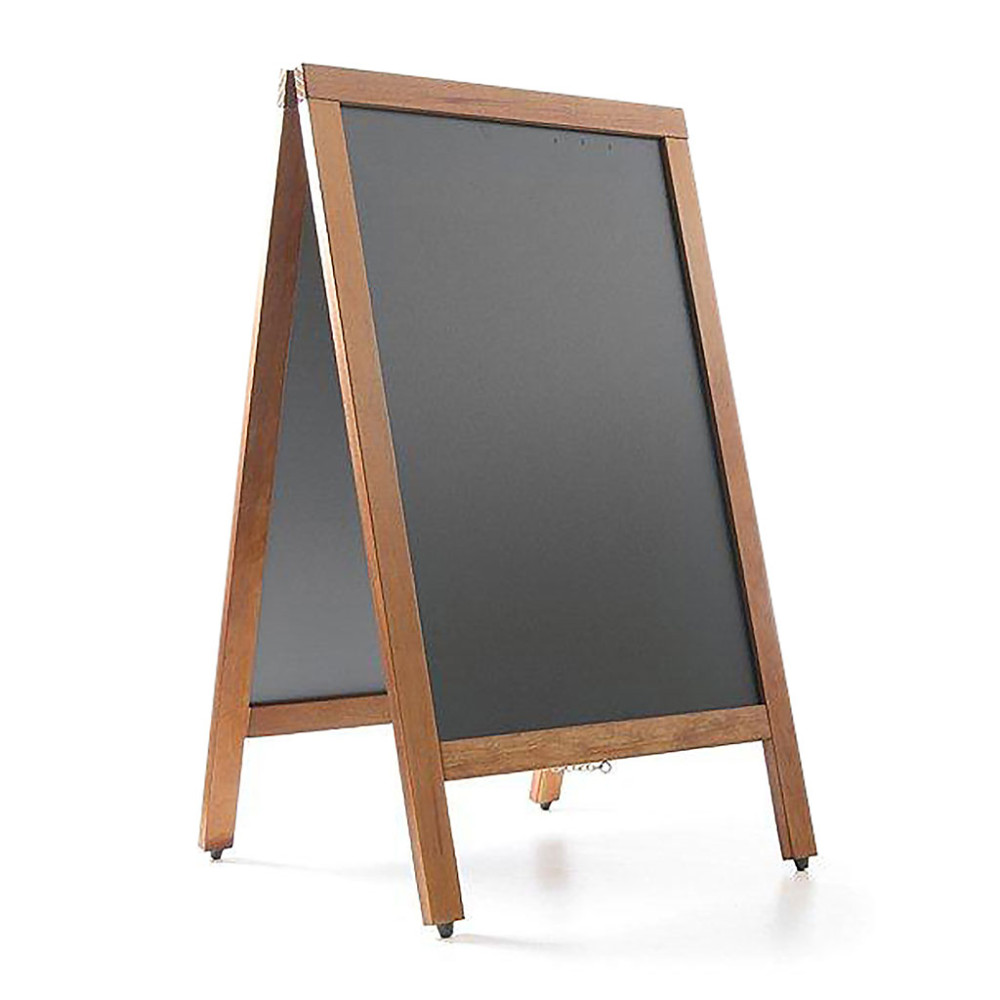 Krijtstoepbord - 70 X 120 cm - Zwart - Hendi - 664018