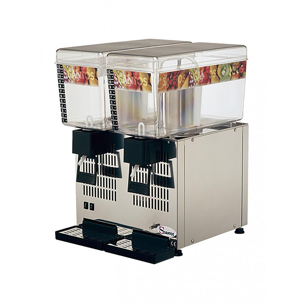 Drankendispenser - H 54.5 x 38 x 43 CM - 23.5 KG - 220 - 240 V - 260 W - Statische - R134A - Polycarbonaat - Grijs - 12 Liter - +4°C / +12°C - Santos - 408072