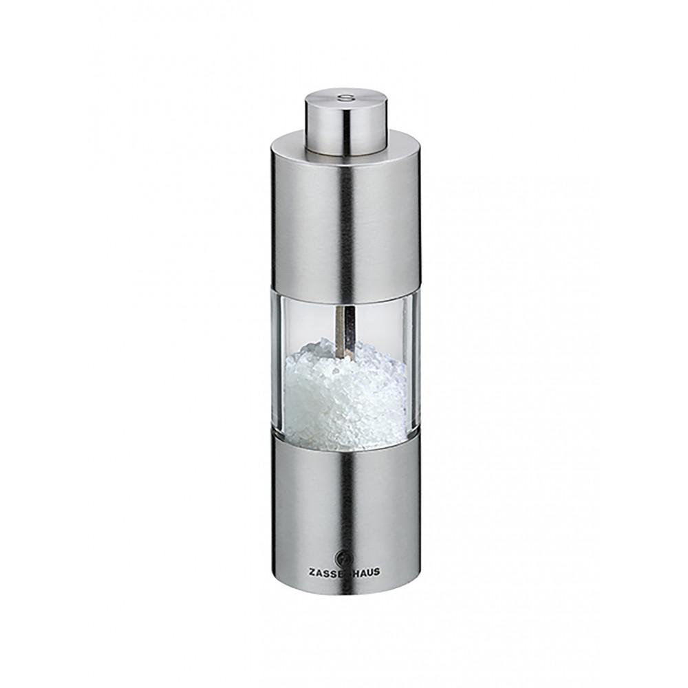 Zoutmolen - H 4.5 CM - 0.29 KG - Ø13 CM - RVS - Transparant - Zassenhaus - 892171