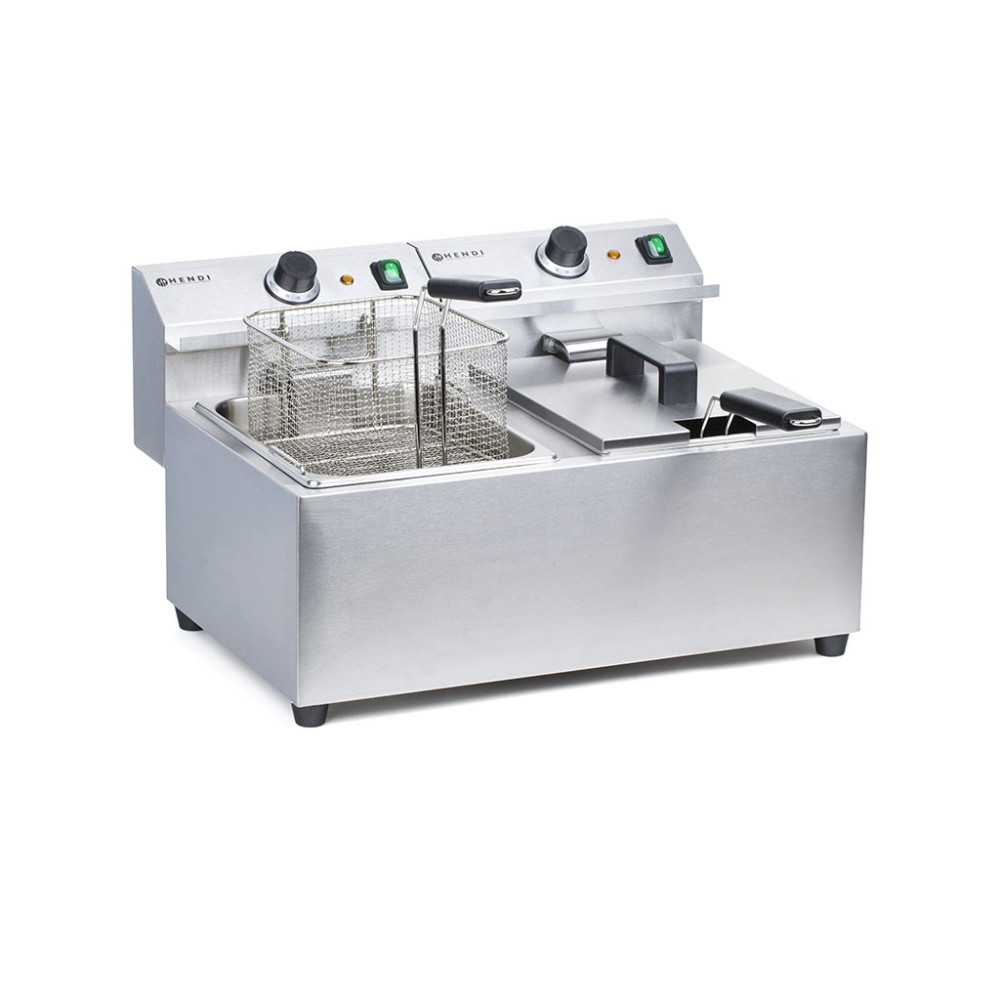 Horeca Friteuse - Mastercook - 2 x 8 Liter - Hendi - 207307
