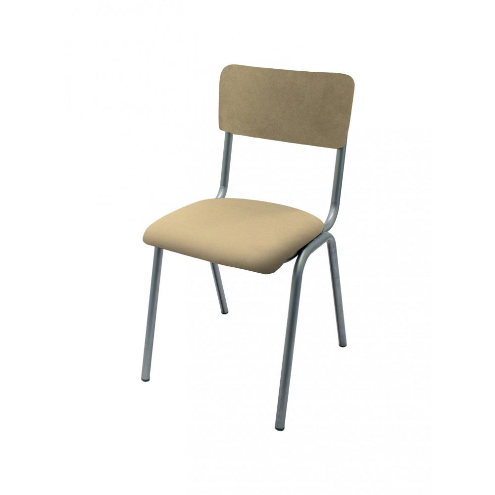 Horeca stoel - Old School - Vintage Metal - Velvet Taupe - Promoline