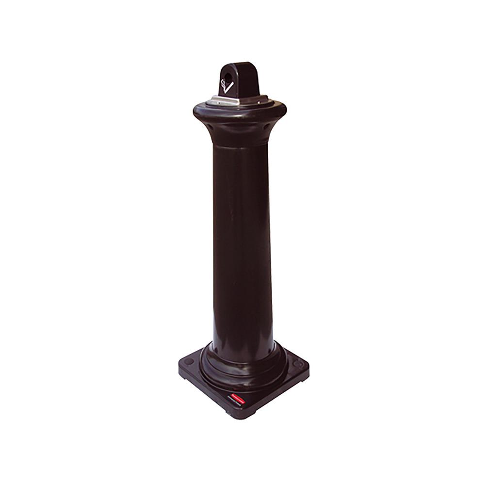 Rokerszuil - H 102.9 x 35.7 x 35.7 CM - 5.9 KG - Zwart - Rubbermaid - RM3800