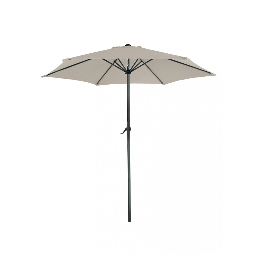 Parasol Mambo rond - 300 cm doorsnede - Taupe