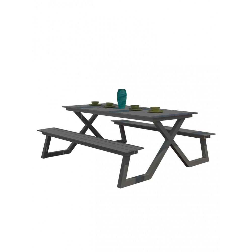 Picknickset - Aluminium Max - Grey - Promoline - HW71055