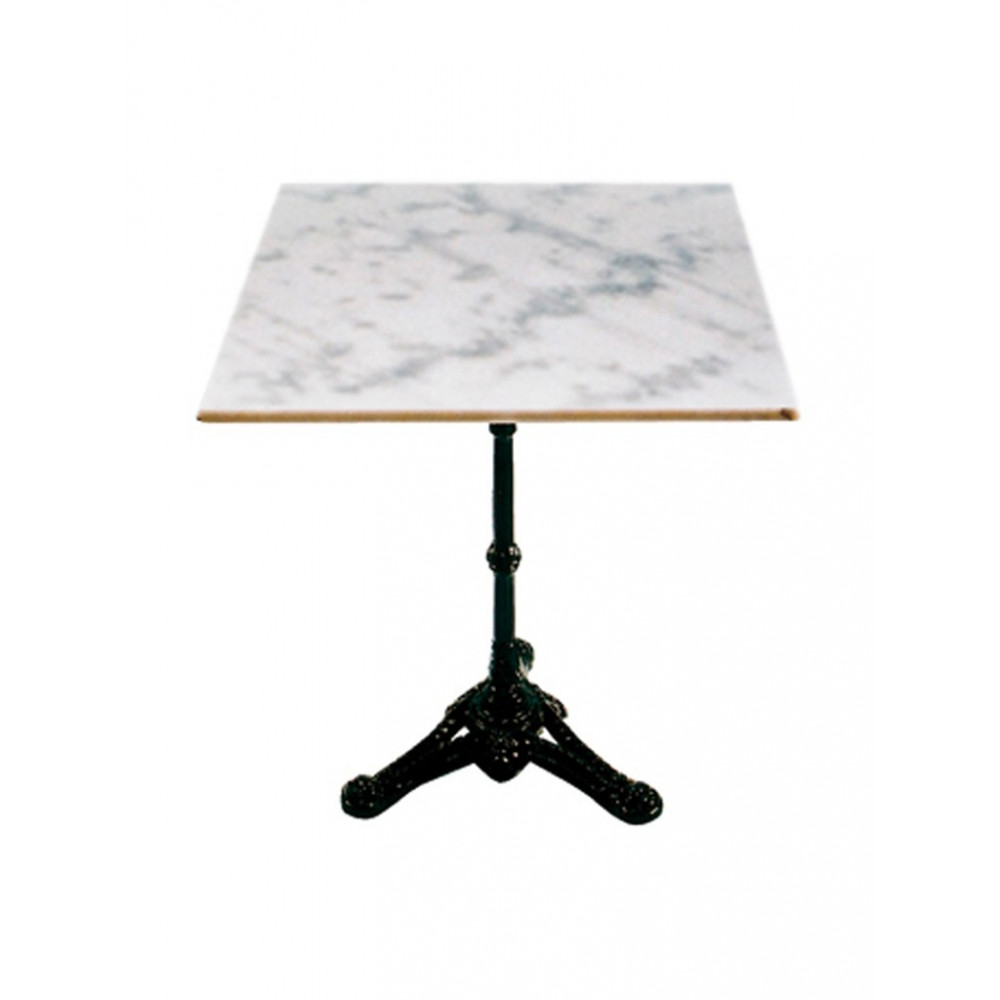 Terrastafel Marmer Vierkant - Wit - 60x60 cm