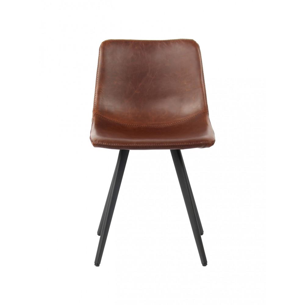 Horeca stoel - Nicolas - PU Leer / Staal - Cognac - Promoline