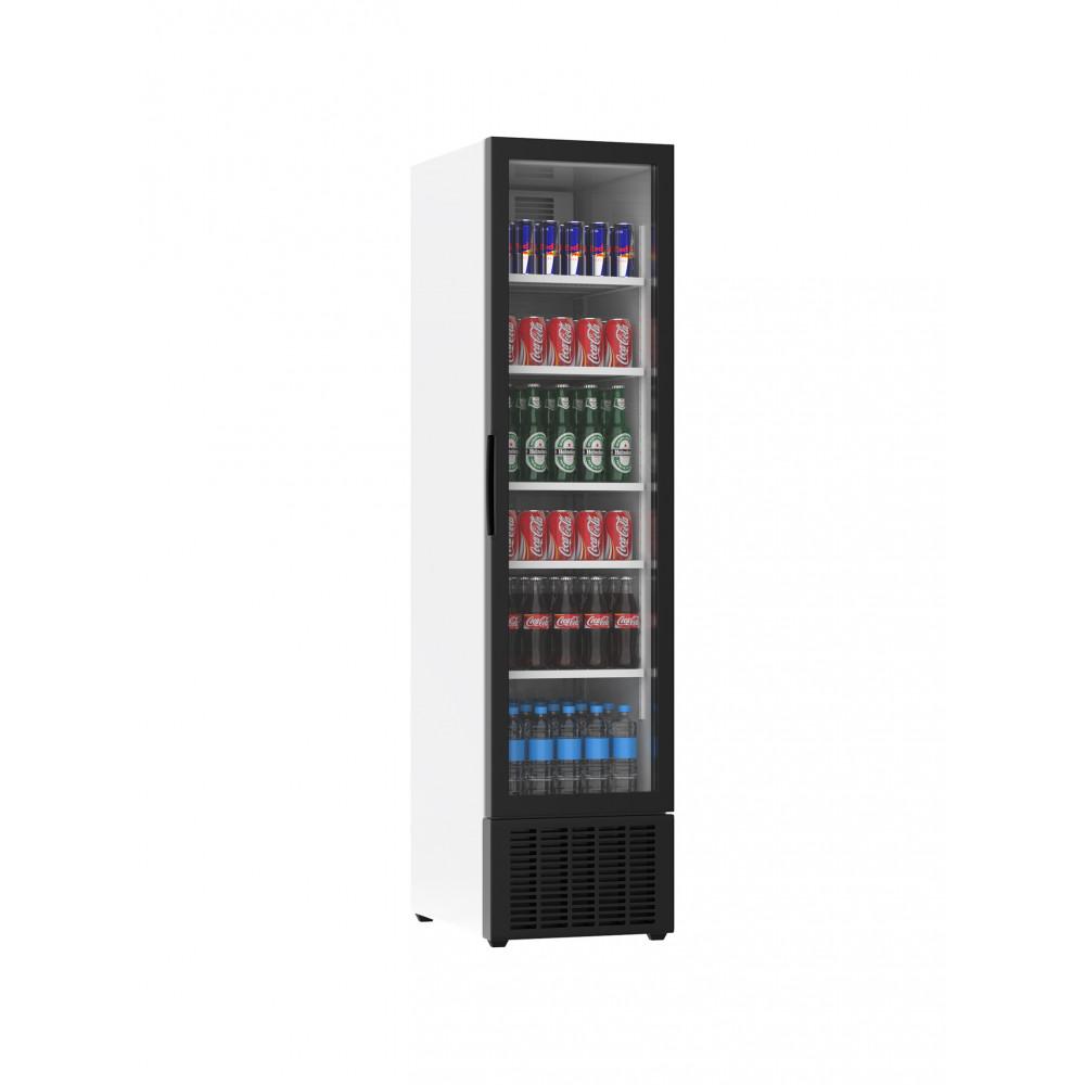 Displaykoeler - 265 Liter - 1 Deurs - Wit - H182.5 x 45 x 59.5 CM - Promoline