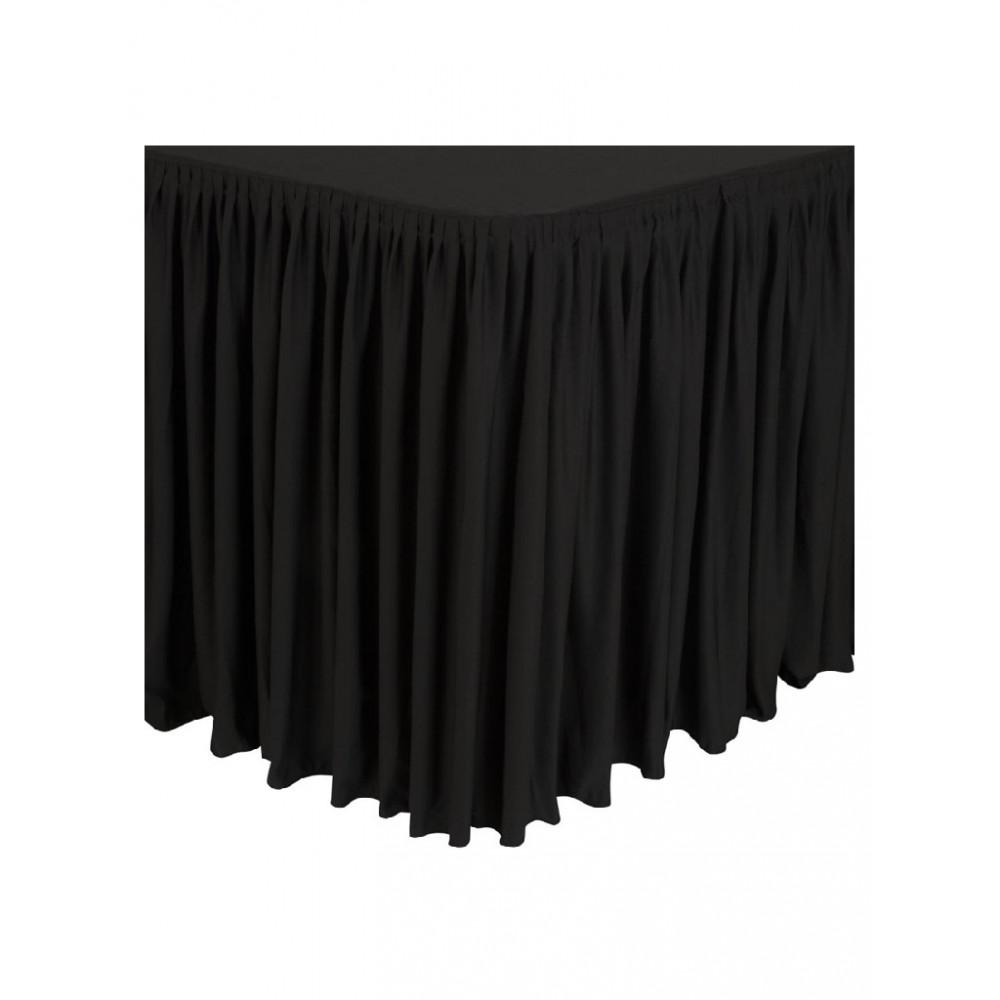 Combi tafelrok plissé zwart - CD397