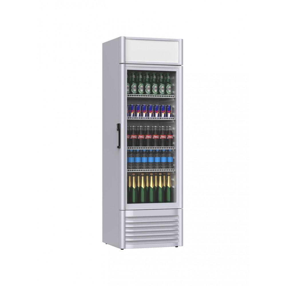 Promoline - 420 liter - 1 deurs - 02484   Koelkast glazen deur