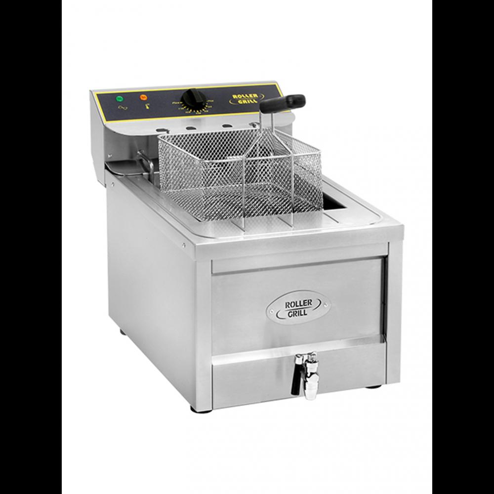 Friteuse - H 44.5 x 40 x 60 CM - 20 KG - 380 - 415 - Zonder - Stekker V - 9000 W - RVS - 12 Liter - Elektrisch - Roller Grill - 304112