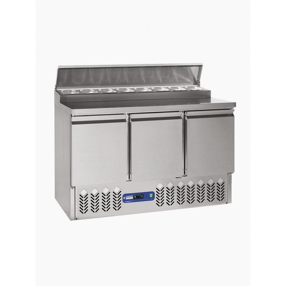 Preparatie koeltafel - 3 Deuren + koelstructuur - SALP3/R6 - Diamond