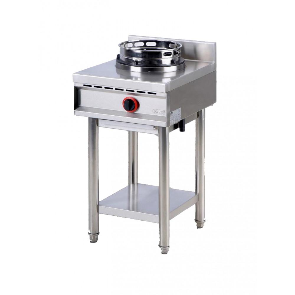 Gas wok kookplaat met plank, 1 brander - Virtus - AHA0017