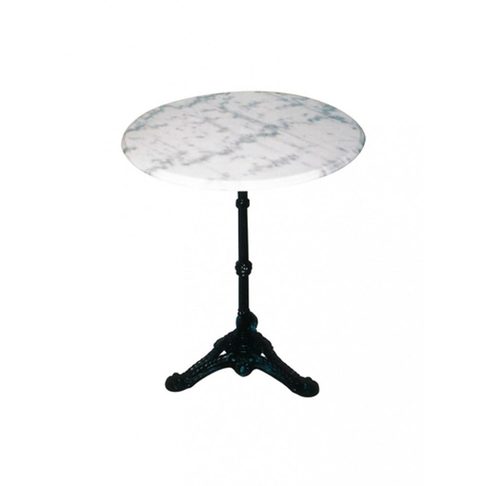 Terrastafel Marmer Rond - Wit - 60 cm
