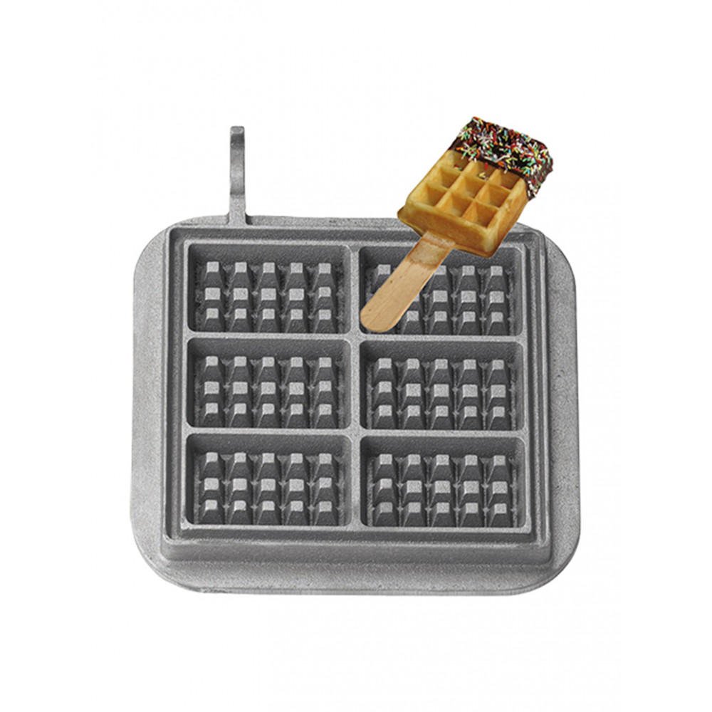 Wafel op stok - Wisselplaten set 2 stuks - Gietijzer - 308082