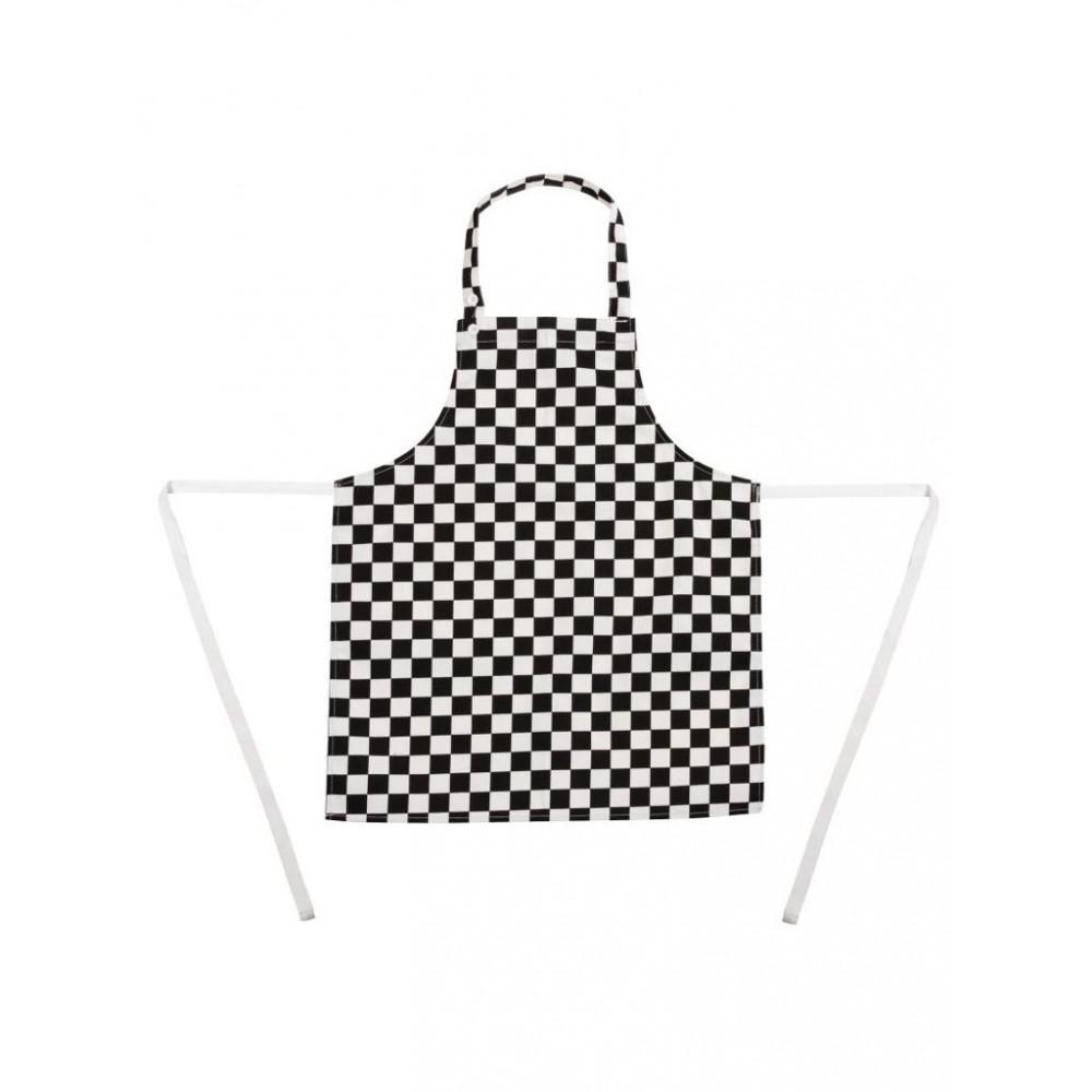 Kinderschort - Zwart-wit - Whites Chefs Clothing - B357