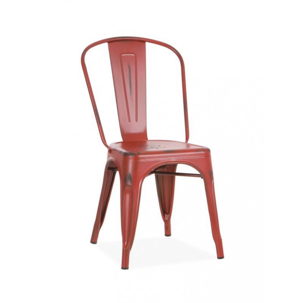 Horeca caféstoel - Retro - Vintage look - Rood