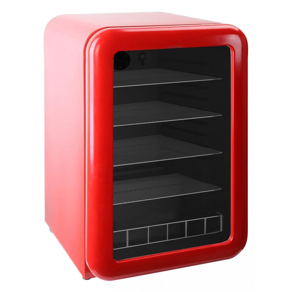 Exquisit - Koelkast - 115 liter - Glasdeur - Rood - KB110-RETRORED - Retro
