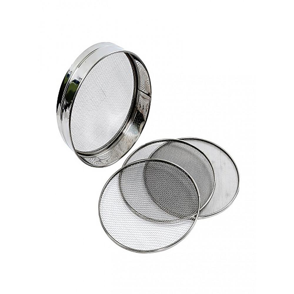 Bakkers zeef - Set van 4 - 0.75mm/1mm/2mm/3mm - 21 CM - RVS - Promoline