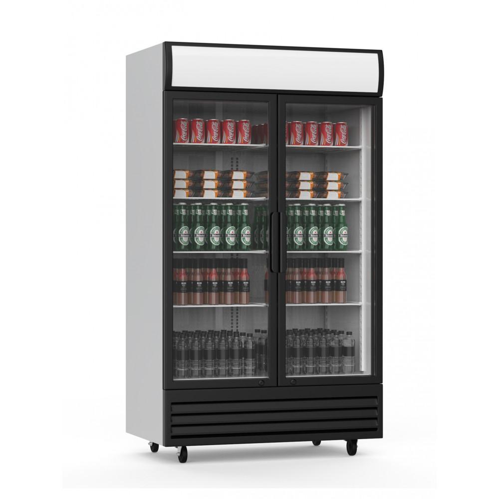 Promoline - 1000 liter - 2 deurs - Klapdeur - Koelkast glazen deur