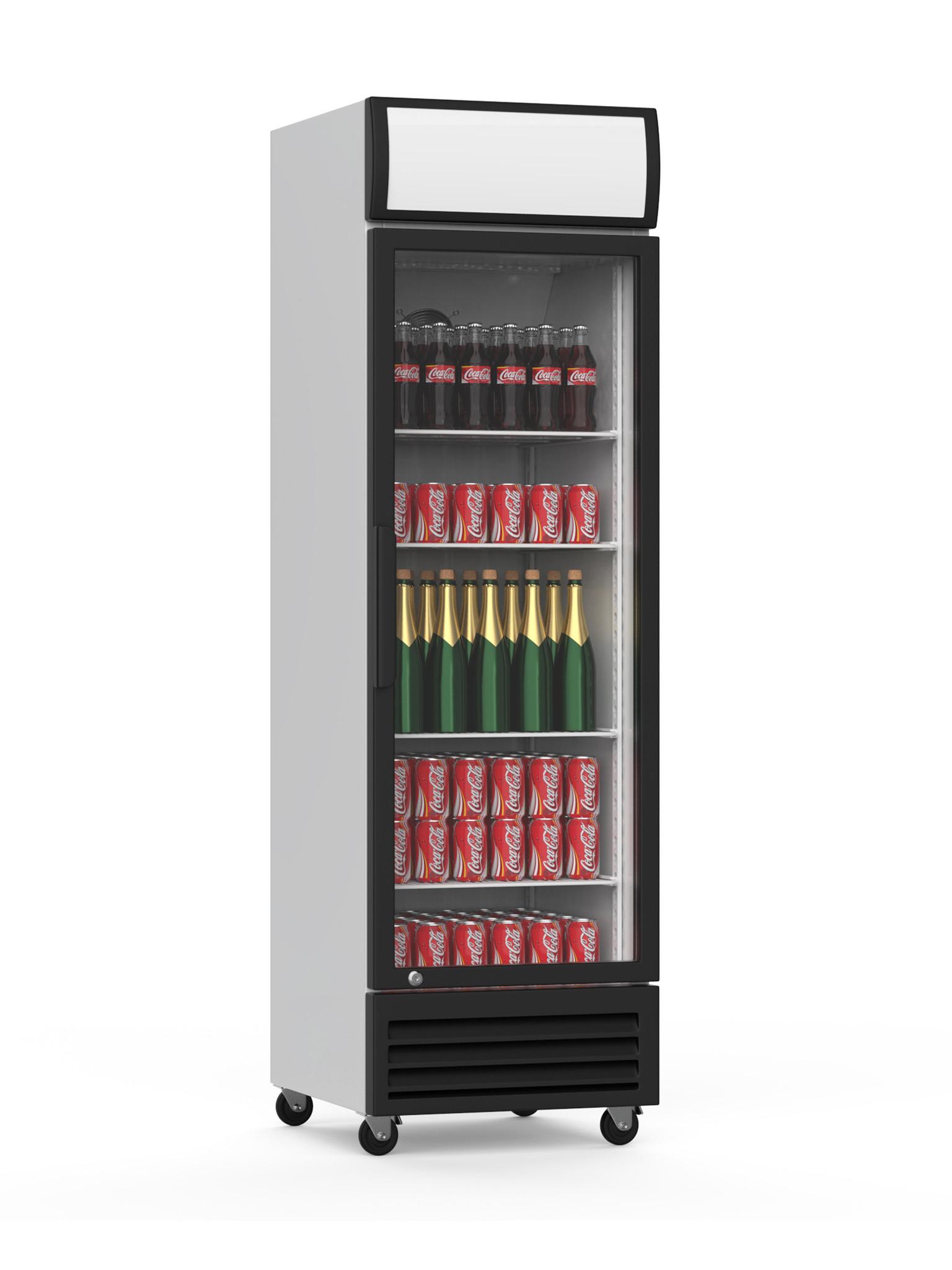 Displaykoeler - 360 Liter - 1 deurs - Zwart - Promoline